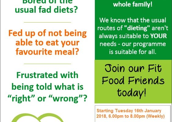 Fit Food Fit Life – 12 week Lifestyle Course