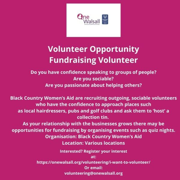 JPEG Fundraising volunteer