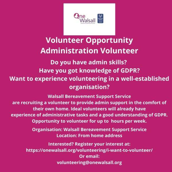 volunteer role sept 2020