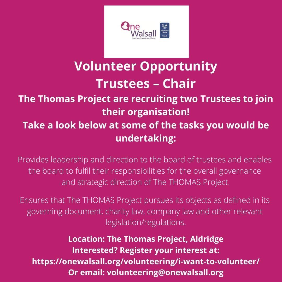 chair volunteer st thomas