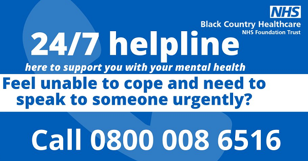 nhs 24 hour support poster