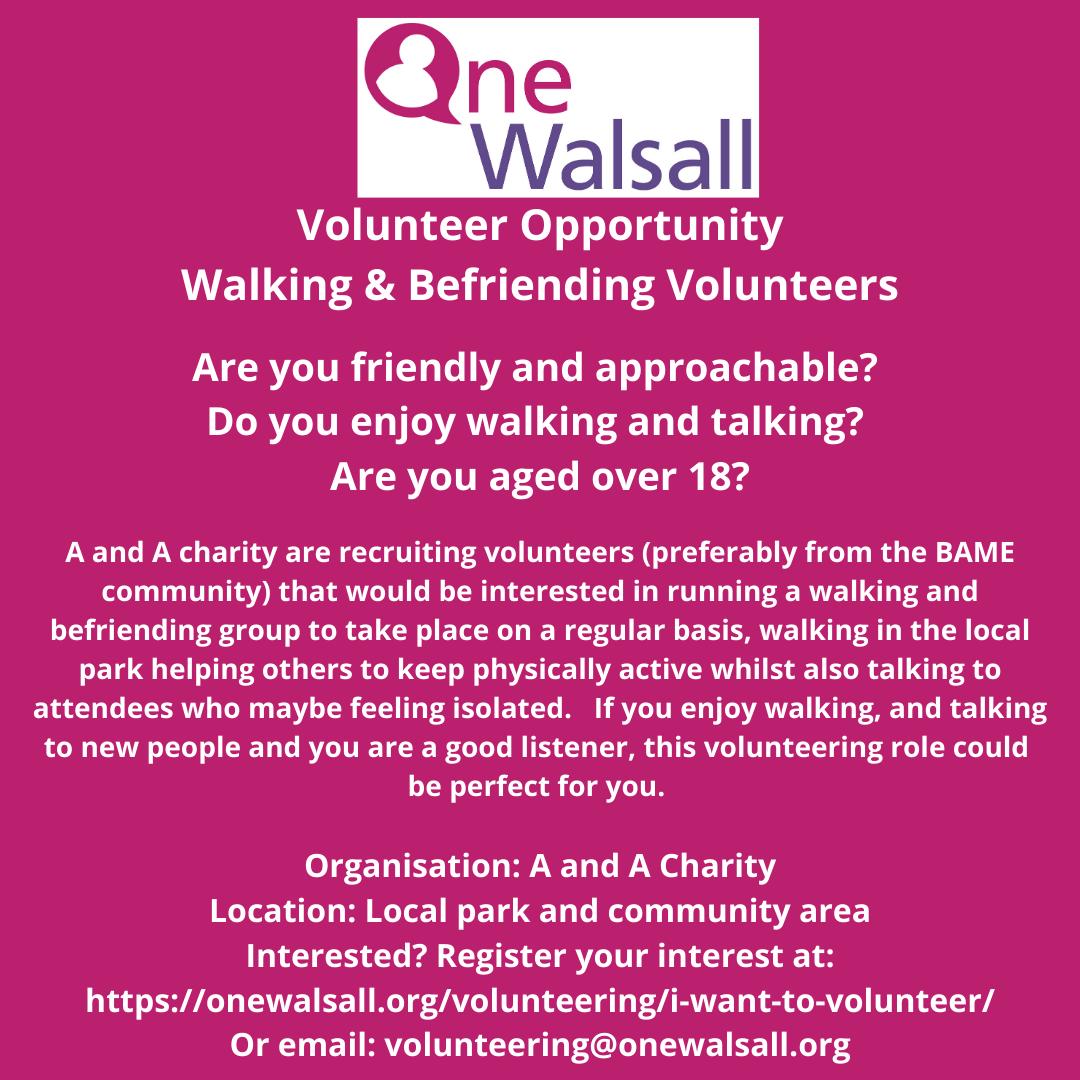 volunteer walking and befriending
