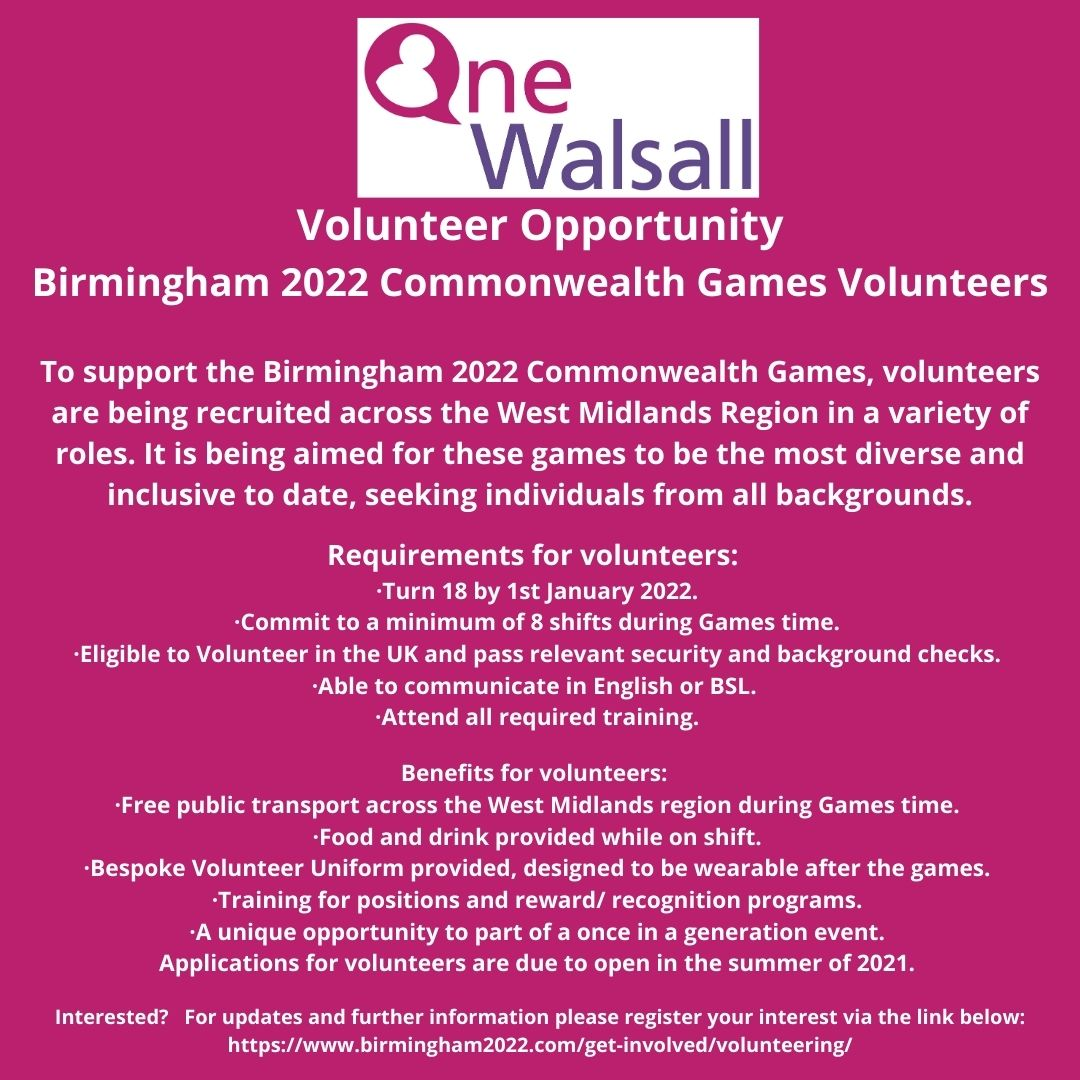 commonwealth games volunteer opportunity poster