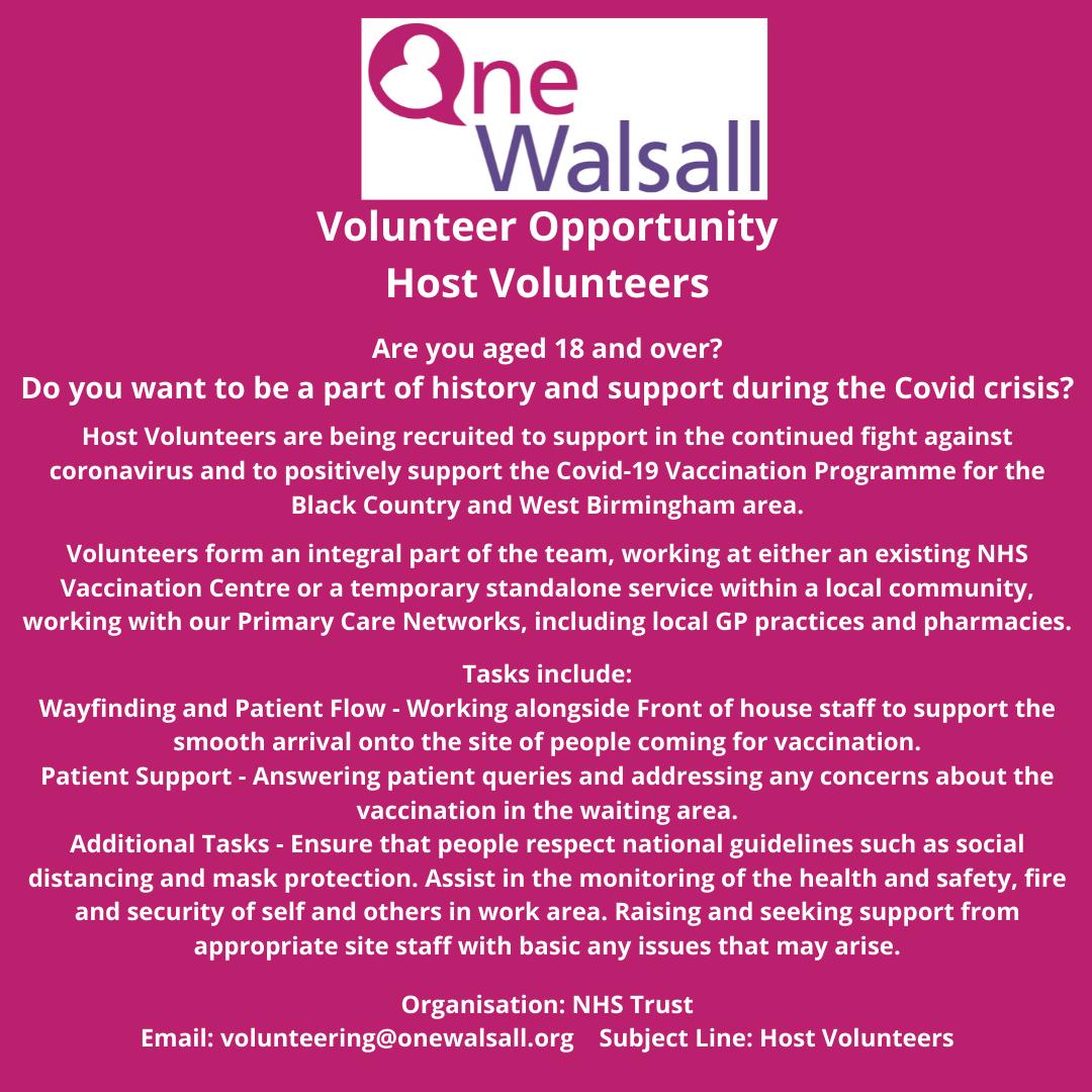 host volunteers opportunity