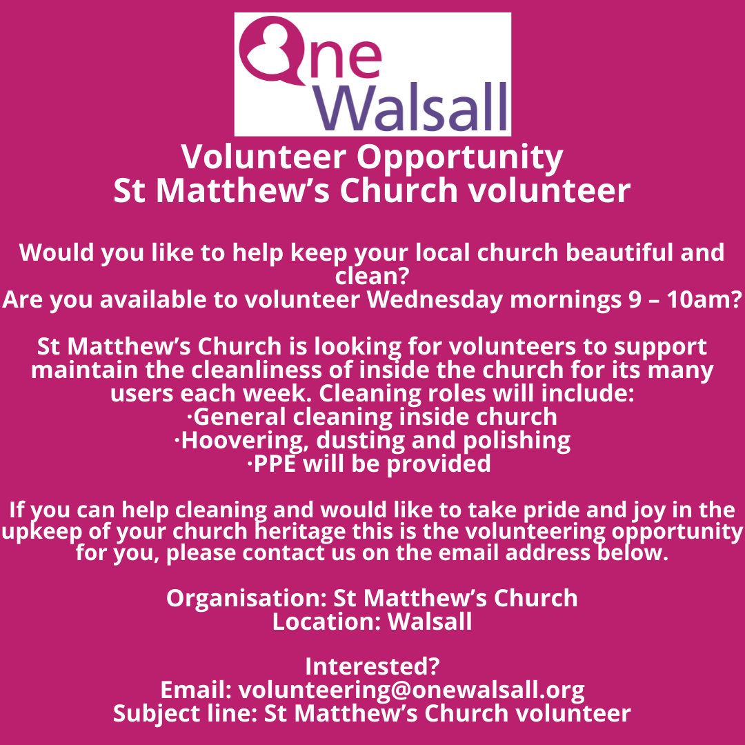 St Matthews Volunteer opportunity