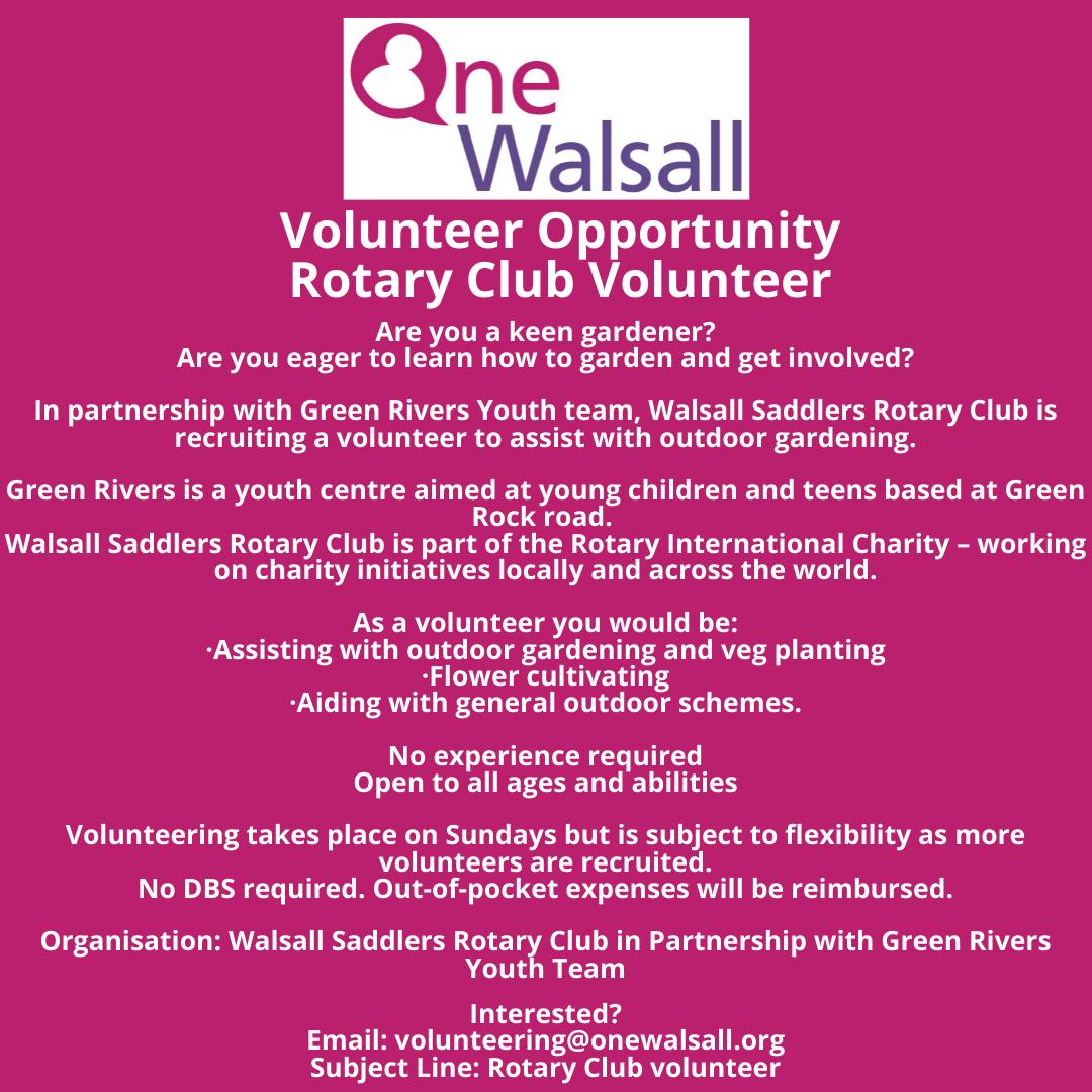 rotary club Volunteer opportunity