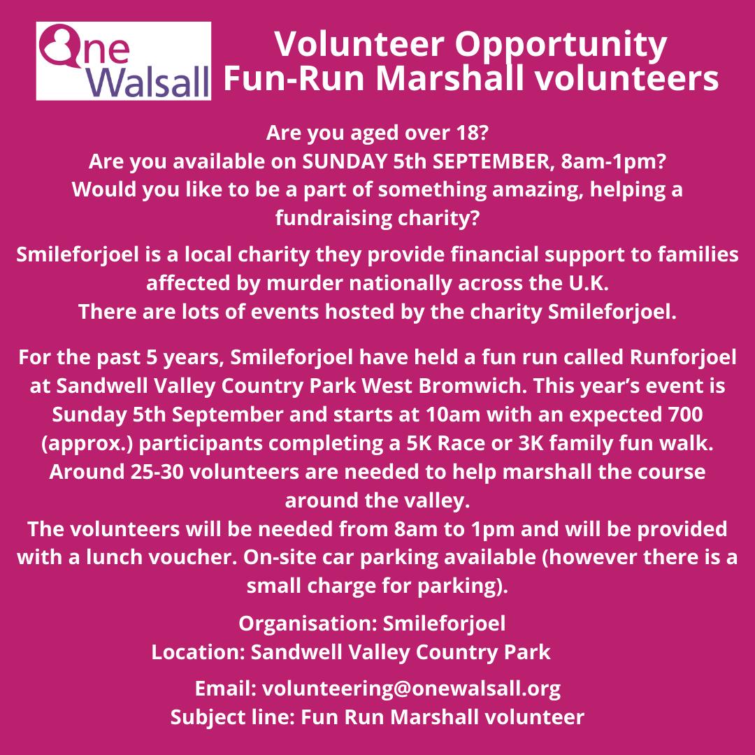 fun run volunteer volunteer
