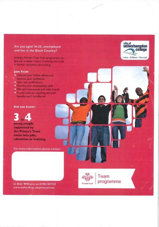 City of Wolverhampton College Team Programme C-page-001