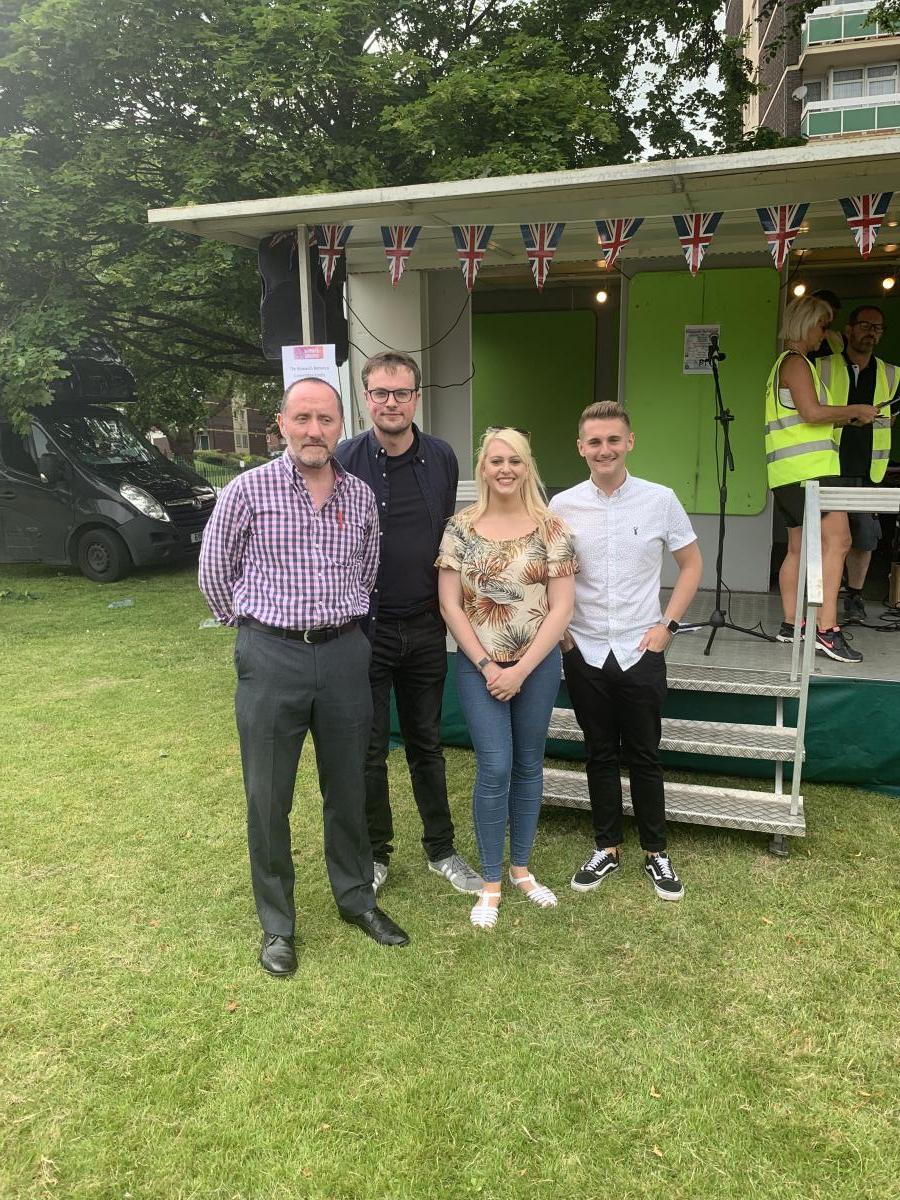 Lucy with Eddie Hughes MP, Cllr Matt Follows, Cllr Brad Allen