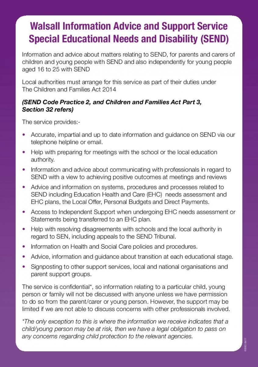 SEND (Special Education Needs and Disability) Advice and Support Leaflet C-page-002